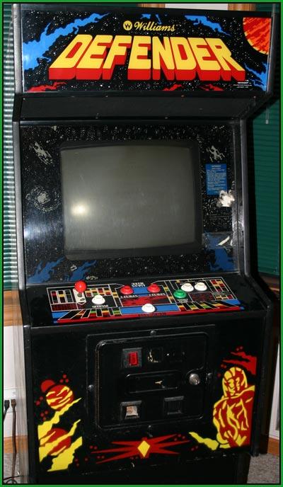 defender arcade machine